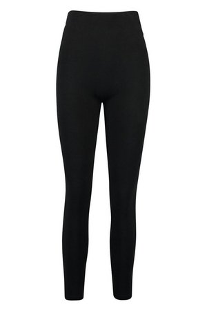 Basic Black Legging | boohoo