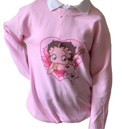 pink Betty Boop sweatshirt