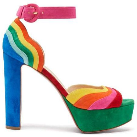Degratissimo 130 Rainbow Suede Sandals - Womens - Multi