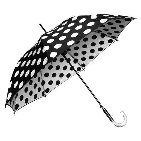 Clifton Double Cover Dot Series Auto Open Black Umbrella -