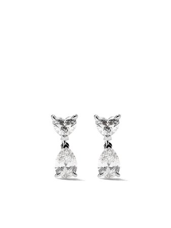 As29 18Kt White Gold Mye Diamond Stud Earrings MYE119ER Silver | Farfetch