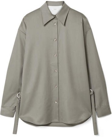 LE 17 SEPTEMBRE - Wool-twill Shirt - Army green