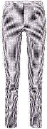 Gingham Cotton-blend Straight-leg Pants