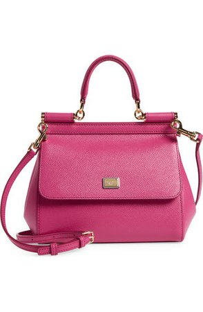 Dolce&Gabbana Small Miss Sicily Leather Satchel   Nordstrom