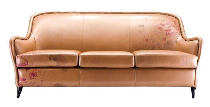 gold flower sofa