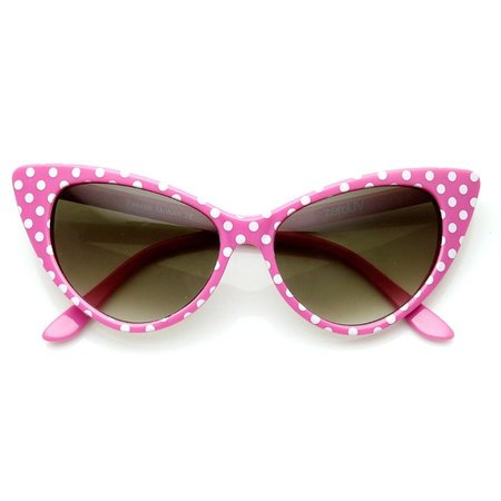 pink polka dot cat eye sunglasses