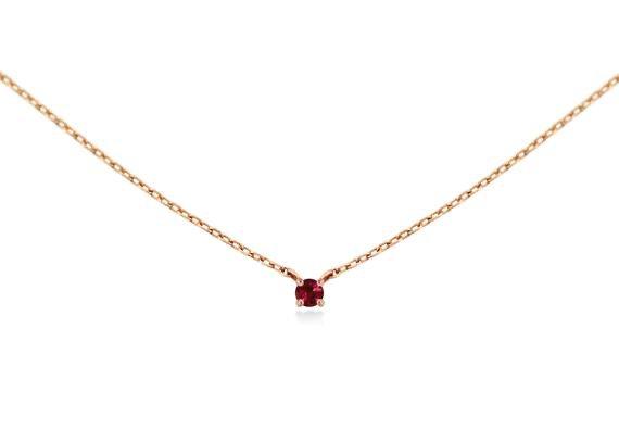 necklace w/ ruby stone