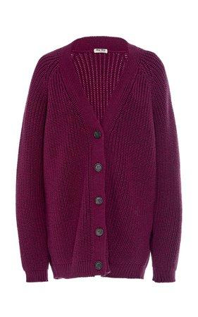 Oversized Wool Cardigan by Miu Miu | Moda Operandi