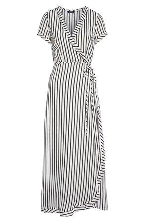 Bardot Adie Stripe Midi Wrap Dress | Nordstrom