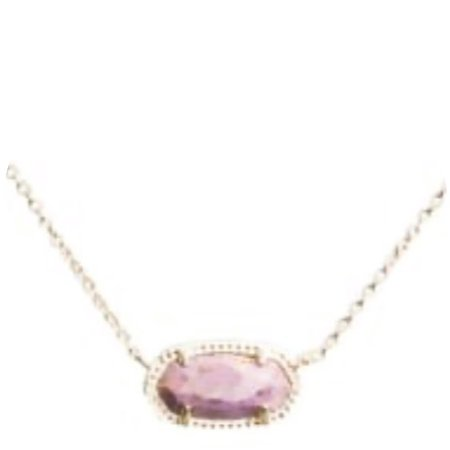 pink stone gold necklace