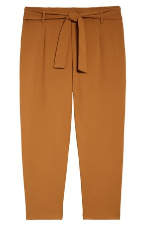 Leith Belted Tapered Pants (Plus Size) | Nordstrom