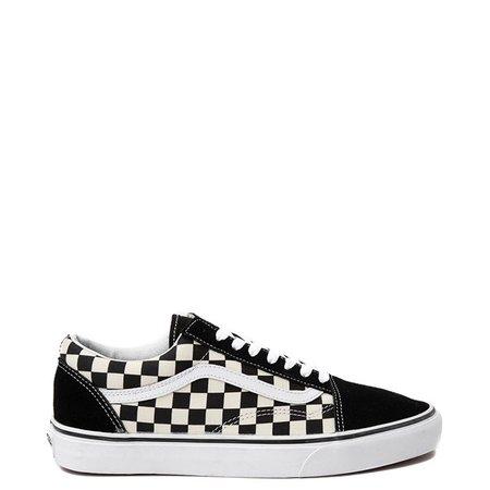 Vans Old Skool Checkerboard Skate Shoe - Pink / Black | Journeys