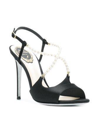 René Caovilla Pearl Embellished Sandals   Farfetch.com