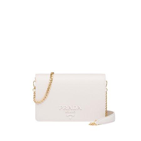 Saffiano leather shoulder bag | Prada - 1BP012_NZV_F0K74_V_DWO
