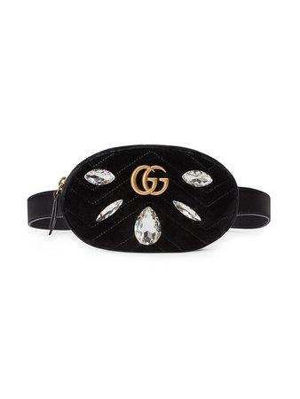 Black Gucci Marmont Belt Bag