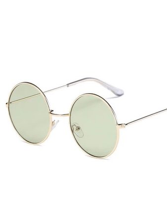 Grayish green circular lenses sunglasses