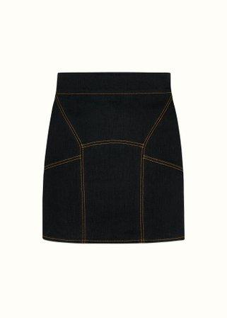 Fenty | Denim mini skirt - Jet Black