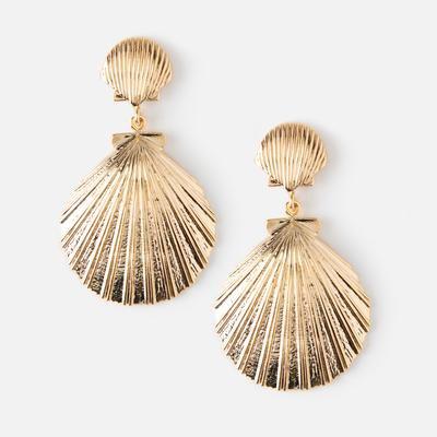 Double Sea Shell Earrings - Orelia London