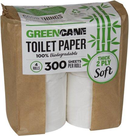 Greencane 2-ply Toilet Paper - 4 pack
