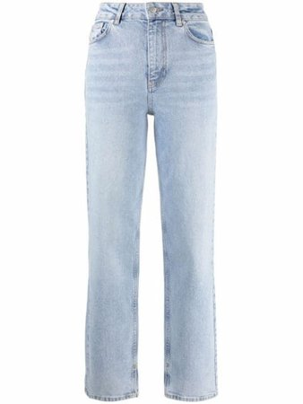 Shop GANNI straight-leg jeans with Express Delivery - FARFETCH