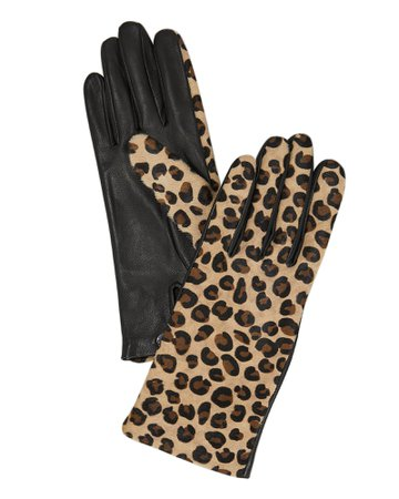 Chloe Leopard Gloves