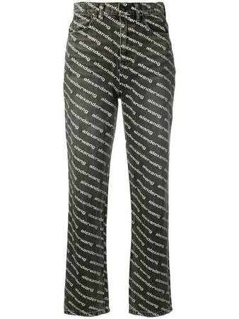 Alexander Wang logo-print jeans