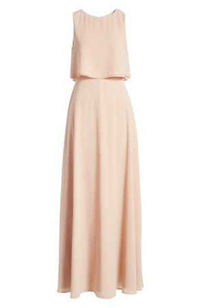 Lulus Utterly Enchanting Popover Chiffon Gown | Nordstrom