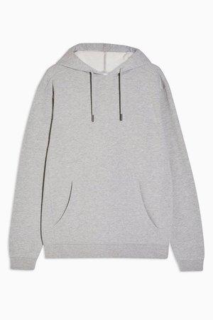 Grey Clean Panel Hoodie | Topshop