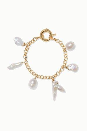 Gold Deia gold-plated pearl bracelet | éliou | NET-A-PORTER