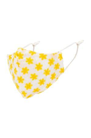 Lele Sadoughi Face Mask in Yellow Daisy | REVOLVE