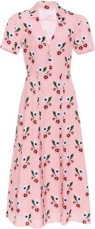 Adelaide Floral-Print Crepe De Chine Dress