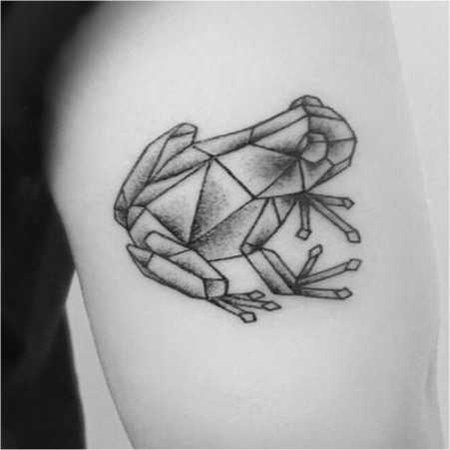 geo frog tattoo