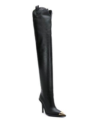 Versace V-Western Over-The-Knee Boots | Farfetch.com