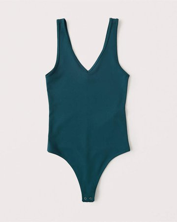 Women's Seamless V-Neck Bodysuit | Women's Tops | Abercrombie.com