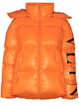 Valentino VLTN Logo Puffer Jacket - Farfetch