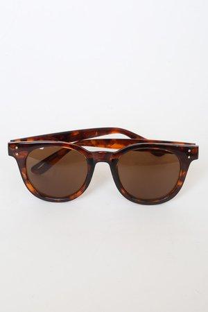 Cute Brown Sunglasses - Tortoise Sunglasses - Brown Sunnies - Lulus