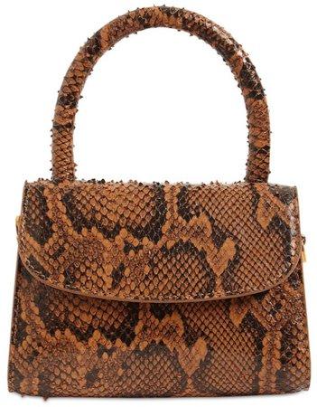 BY FAR Brown Snake Mini Handbag