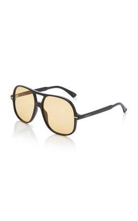 Oversized Acetate Aviator Sunglasses By Gucci | Moda Operandi