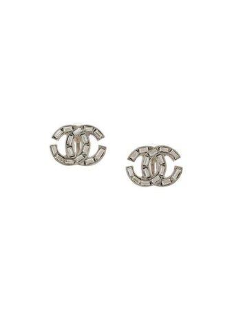 Chanel Pre-Owned 2001 Rhinestone CC Earrings - Farfetch