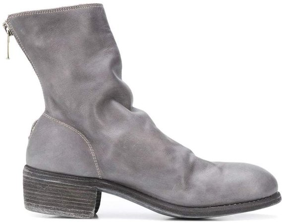 rear-zip ankle boots