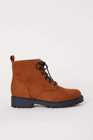 Pile-lined Boots - Orange