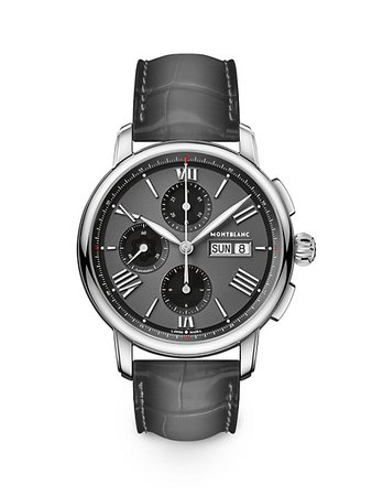 Montblanc Star Legacy Stainless Steel & Alligator Strap Chronograph Watch | SaksFifthAvenue
