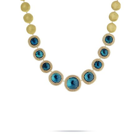 diamond topaz necklace