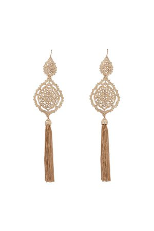Tasseled Filigree Drop Earrings | Forever 21