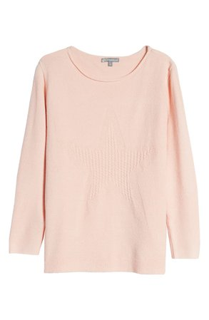 Wit & Wisdom Cable Knit Star Sweater   Nordstrom