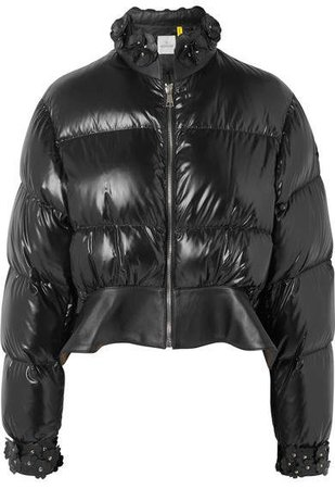 Moncler Genius - 6 Cropped Appliquéd Quilted Shell Down Jacket - Black