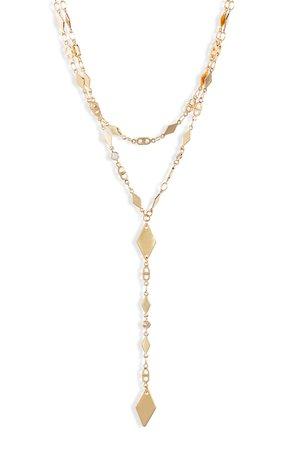 Ettika Layered Lariat Necklace | Nordstrom