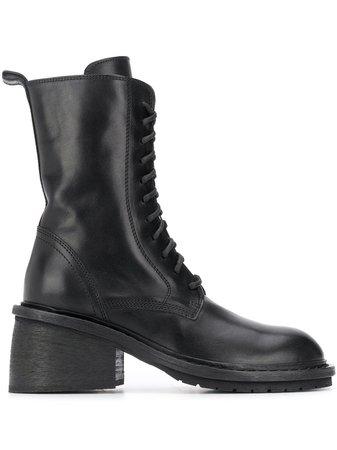 Ann Demeulemeester chunky-heel Combat Boots - Farfetch