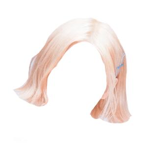 short blonde pink hair png