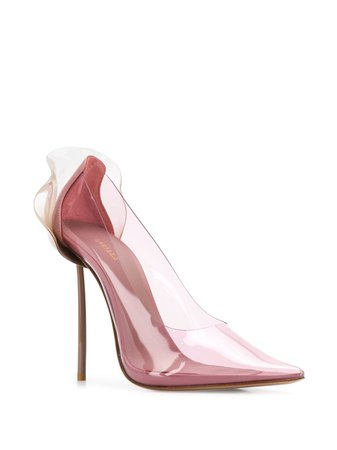 Pink Le Silla Petalo Transparent Pumps For Women | Farfetch.com